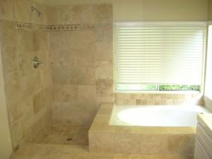 tumbled shower